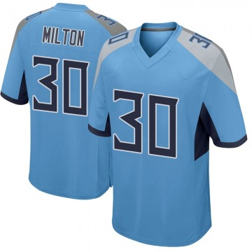Men's Chris Milton Tennessee Titans Nike Game Jersey - Light Blue