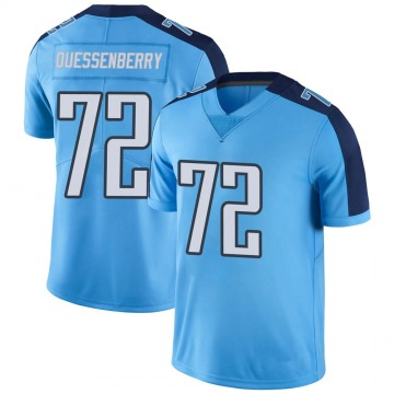 Men's David Quessenberry Tennessee Titans Nike Limited Color Rush Jersey - Light Blue