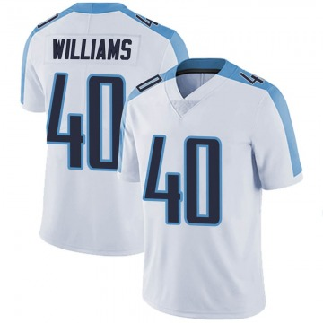 Youth Jordan Williams Tennessee Titans Nike Limited Vapor Untouchable Jersey - White