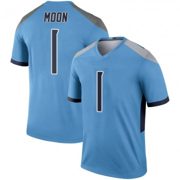 Youth Warren Moon Tennessee Titans Nike Legend Inverted Jersey - Light Blue